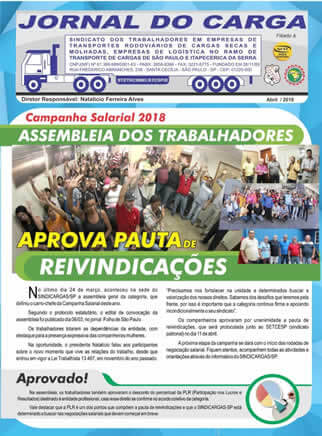 Jornal do Carga – Abril 2018